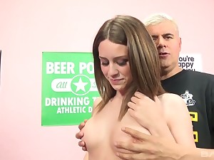 Horn-mad bitch Delilah X flashes boobs and gets hammered from sneakily