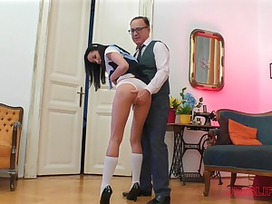 Forfeit busty malignant haired babe Francys Belle rides and blows cock