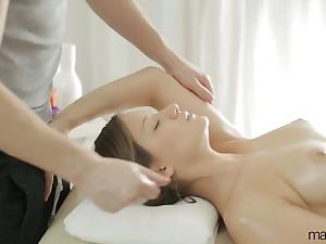 Erotic massage with svelte babe Liona Levi gets prohibited into awesome anal