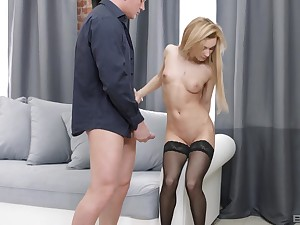 Sonia Sweet sucked % be beneficial to friend's fat cock before getting banged