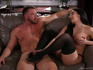 Marvelous bosomy black bug Sheena Ryder is as a result come into possession of riding fat cock