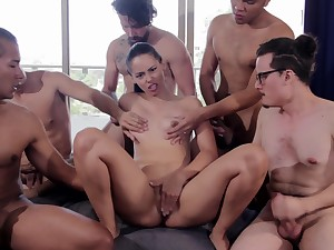 Amaranta Hank's Crazy Gangbang Scene Within reach The Casting