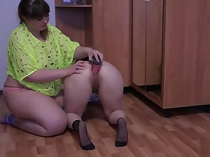 Young bbw lesbians, anal, ass licking, hairy cunt