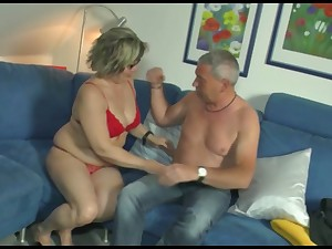 Mature woman gives her pill popper and gets her pussy nailed hard