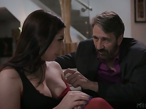 Lusty cowgirl with conscientious titties Keira Croft deserves some hard anal pounding