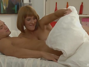 One horny blondes love to succeed in fucked together wits their handsome friend