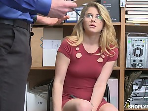 Suspected nympho with rounded ass Taylor Blake is fucked by perverted cop
