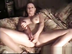 Huge dildo be proper of a tight pussy