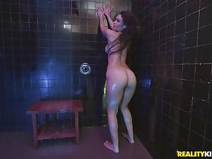 Doggy fuck up the shower with wet bombshell neonate Katana Kombat