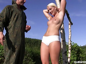 Hardcore outdoor blowjob and a be captivated by with regard to blonde tot Lovita Fate