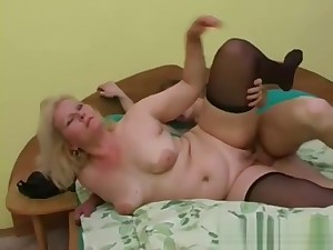 Sexy grandma Lena seduce young Alex