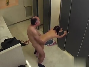 Petite Make heads Konishi Marie Caught Regarding The Toilet By Old Guy