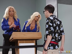 Nicolette Shea added to Brittany Andrews are amazing combination for a threesome