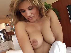 At the her friend destroys her tiny pussy Nina blows his penis