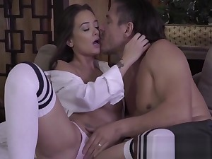 Naughty babe Gia seduces her motor coach and fucks him lecherously