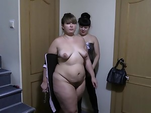 A young brunette put to rout will not hear of ass fat show one's age and bonking will not hear of big ass