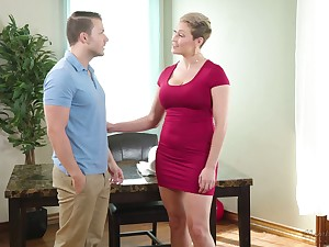 Young masseur Codey Steel fucks copious breasted milf with juicy irritant Ryan Keely