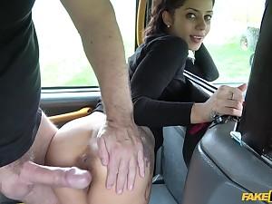 Hardcore pussy fuck with brunette Latina babe Myla Elyse