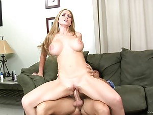 Spoil with giant fake special sucking dick before getting banged doggystyle