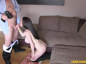 McKenzie takes a chubby cock all in all of say no to holes by means of a job interview
