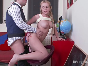 Disobedient young chick Julia Blair is purchase riding flannel of scurrilous tutor