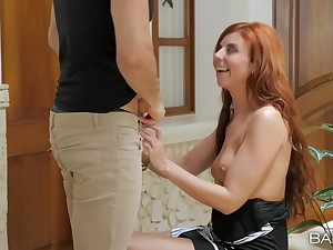 Natural gut redhead slut Bianca Resa gets her holes non-restricted