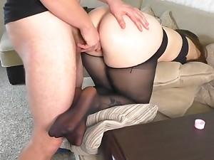 Teen School Crammer after Work gave her Big Ass in Pantyhose