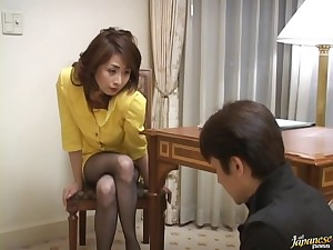 Amateur comprehensive from Japan Eri Kikuchi spreads her legs to be fucked