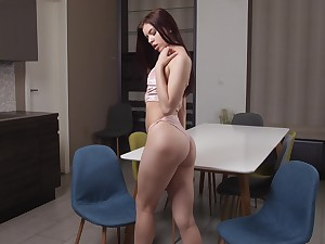 Fresh pussy be advisable for juicy looking babe Emily Mayers needs some daily masturbation