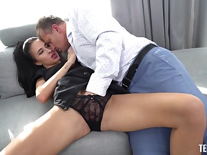 X-rated babe puts it to work her cunt with full doggy scenes