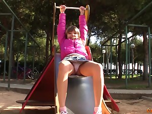 Petite Russian babe is quite a naughty babe together with a true anal boss